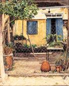 Courtyard in Ktima Paphos, Cyprus